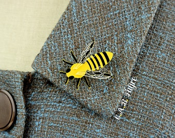 The Bee's Knees - Bee Brooch - Bee Pin -  Laser Cut Necklace (C.A.B. Fayre Original Design)