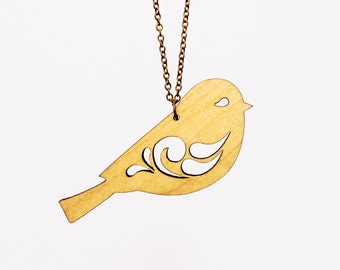 Sweet Little Bird Necklace - Laser Cut Necklace (C.A.B. Fayre Original Design)