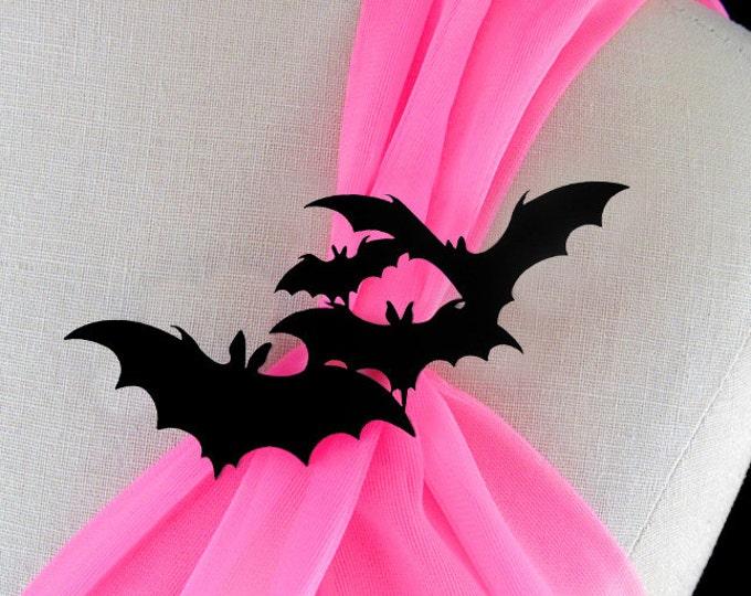 Featured listing image: Bat Brooch - Laser Cut Acrylic - Bat Pin - Halloween Jewelry - Halloween Brooch - Bat Jewelry