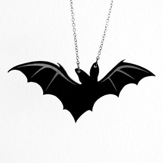 Lone Bat Necklace Laser Acrylic Cut C A B Fayre Original