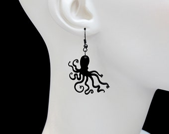 An Octopus Love Affair Earrings - Laser Cut Acrylic (C.A.B. Fayre Original Design)
