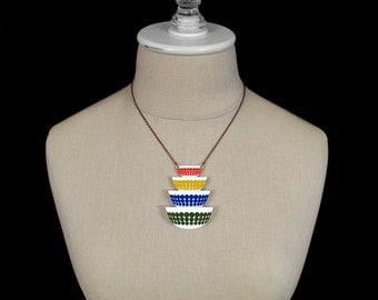 Polka Dot Pyrex Bowls Necklace - Laser Cut Acrylic - Pyrex Bowls Jewelry - Pyrex Necklace