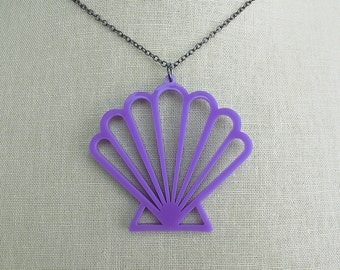Mermaid Shell Necklace - Laser Cut Scallop Shell Necklace (C.A.B. Fayre Original Design)
