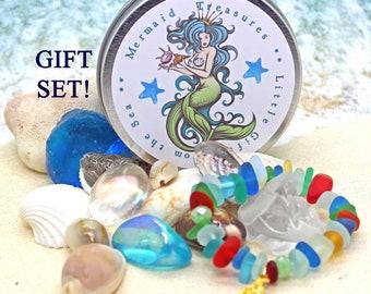 Mermaids Treasure / Gift for Little Girl / Mermaid Gift / Sea Treasures / Beach Finds / Gifts from the Sea / Sea Glass / Mermaid Gift
