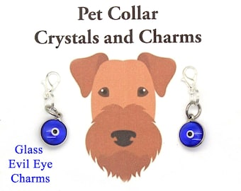 Pet Collar Charm / Tiny EVIL EYE Protection / Pet Jewelry / New Pet Gift / Pet Charms / Pet Healing / Charms for Dogs / Charms for Cats