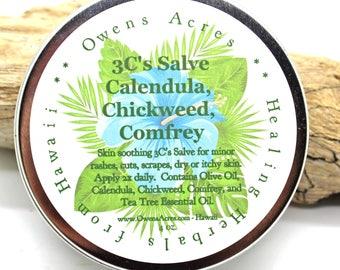 3C's Salve, Dry Skin, Skin Rash, Itchy Skin, Herbal Salve, Skin Salve, Skin Rash, Dry Itchy Skin, Salve