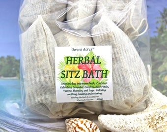 Sitz Bath - Herbal Postpartum or Surgery, Set of 6 Bags - New Mom, Sitz Bath, New Baby, Herbal Bath Soak, Tub Tea