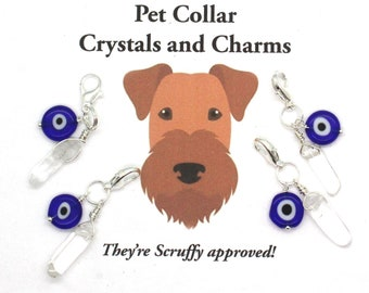 Pet Collar Charm / EVIL EYE and Crystal Protection / Pet Jewelry / New Pet Gift / Pet Charms / Pet Healing / Charms for Dogs / for Cats