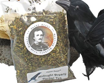 Edgar Allen Poe Tea - Midnight Dreary Tea 1.5 oz. Refill for Gift set, Licorice Tea, Herbal Tea, Loose Leaf Tea, Edgar Allen Poe