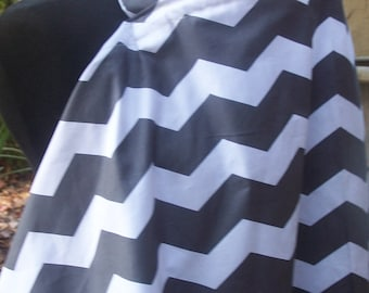 Nursing Cover, Breastfeeding Feeding Cover up, Nursing cover up, Gray Chevron Nursing Cover