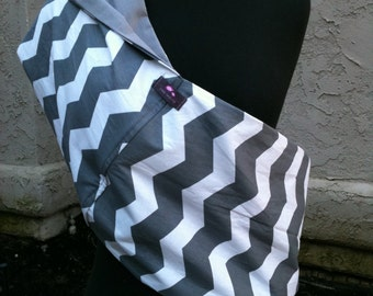 Baby Sling  Baby Carrier - Gray Chevron, Choose Your Lining Color
