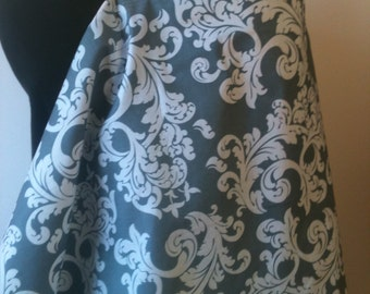 Nursing Cover, Breastfeeding Feeding Cover up, Nursing cover up, Gray and White Floral