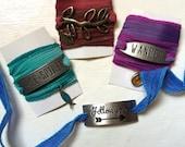 SALE 40% off Free-Spirit silk wrap bracelet