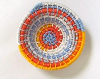 MOON BEAM-Original coiled bowl-4x1 inches-basket