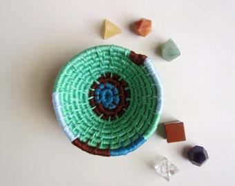 MINT LEAF-Original coiled bowl-4x2 inches-basket
