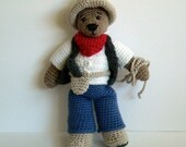 PDF Crochet Pattern - Cowboy Clothes to Tilda Bear and Wilma Doll