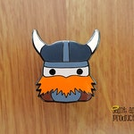 Viking Enamel Pin, based on Magnus, my Orange Beard Viking Plushie, READY TO SHIP!