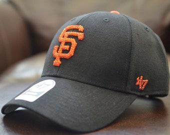 8eddadbe834ebc Bling Bling Customized San Francisco Giants '47 MLB On Field Replica '47  MVP Cap With Swarovski Crystals