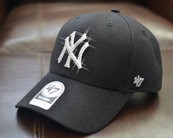 85ce4f9fa28 Bling Bling Customized New York Yankees Cap With Swarovski Crystals