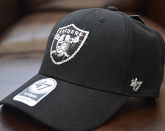 99eb0dac0ab7e Bling Bling Customized Oakland Raiders  47 NFL  47 MVP Cap With Hand  Embellished Swarovski Crystals