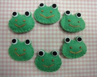 Set of 6pcs handmade felt turtle--carnation FT763