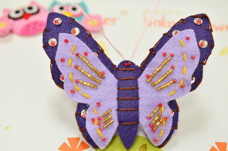 Set of 2pcs handmade felt butterfly--passionhyacinth New FT409