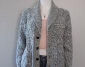 Vintage Knit Cardigan Fis...