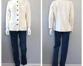Vintage White Cardigan Sw...