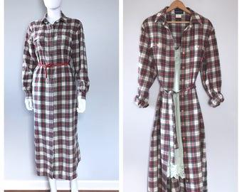 Womens Print Wrap Maxi Dress - 10 -12 - RED Lands End V8LJe3vv