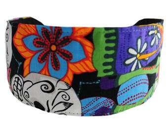 Bargain Headbands, Day of the Dead, Los Novios, Colorful Soft Fabric Headband by Bargain Headbands
