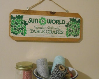 Sun World Vintage Fruit Crate Sign Wall Hanging