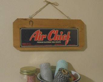 Air Chief Vintage Fruit Crate Sign Wall Hanging