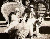Fabulous Flapper And Dapper Dude Vintage 1920s Photo