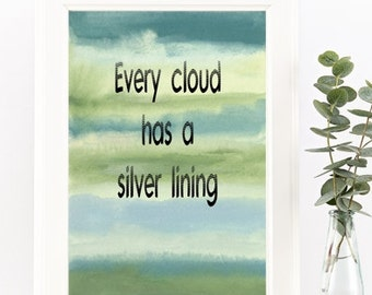Silver Lining Quote Etsy
