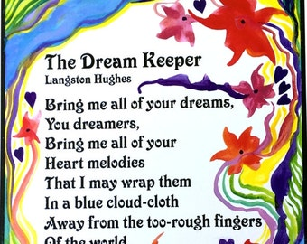 DREAM KEEPER 11x14 Langston HUGHES Quote Poster Black Lives African American Inspiration Classroom Decor Heartful Art by Raphaella Vaisseau