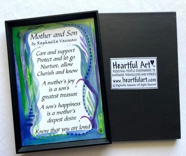 Mutter Sohn Magnet Gedicht Inspirierend Zitat Familie Kind Etsy