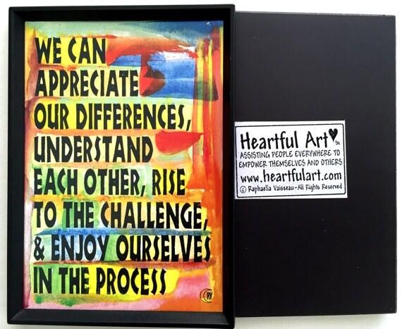 Ce que nous pouvons faire amis de la famille aimant inspiration motivation classe Decor cadeau entreprise à but non lucratif Art Heartful par Raphaella Vaisseau
