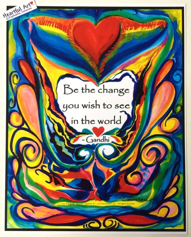 BE The CHANGE 11x14 GANDHI Inspirational Poster Motivational image 0