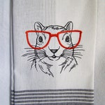 Squirrel with Glasses Kitchen Towel
