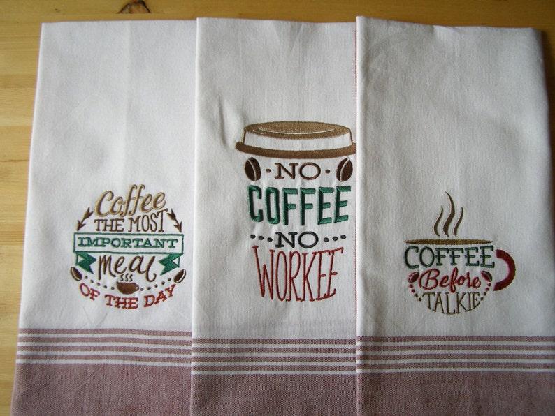 Coffee 3 Set Kitchen Towel image 0