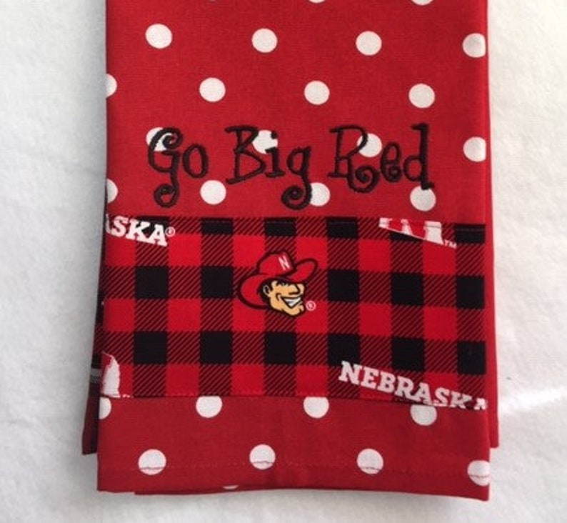 Go Big Red Nebraska Style 4 Kitchen Towel image 0