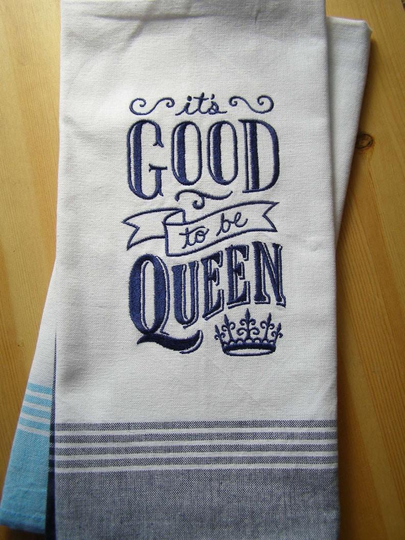 Queen Chalkboard Kitchen Towel image 0