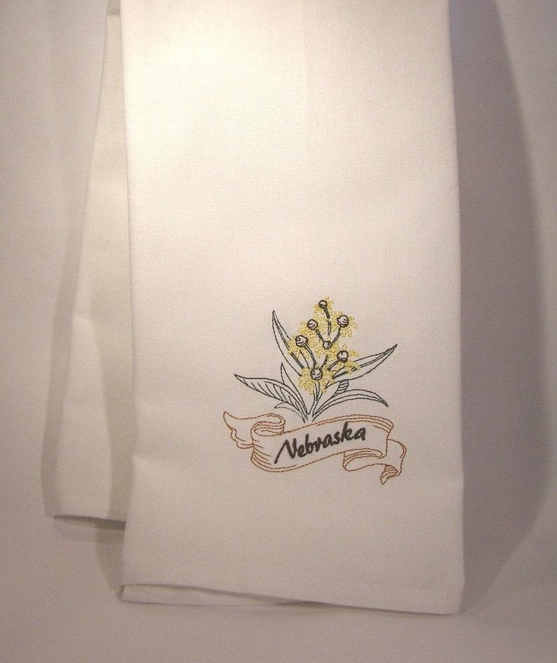 Nebraska State Flower Towel image 0