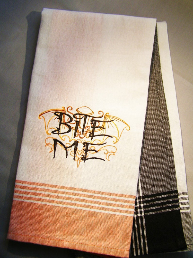 Bite Me  Halloween Kitchen Towel image 0