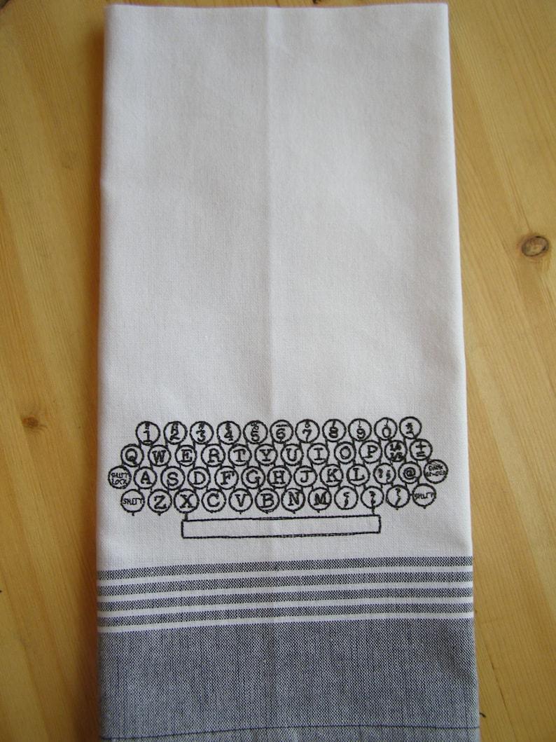 Typewriter Keyboard Kitchen Towel image 0
