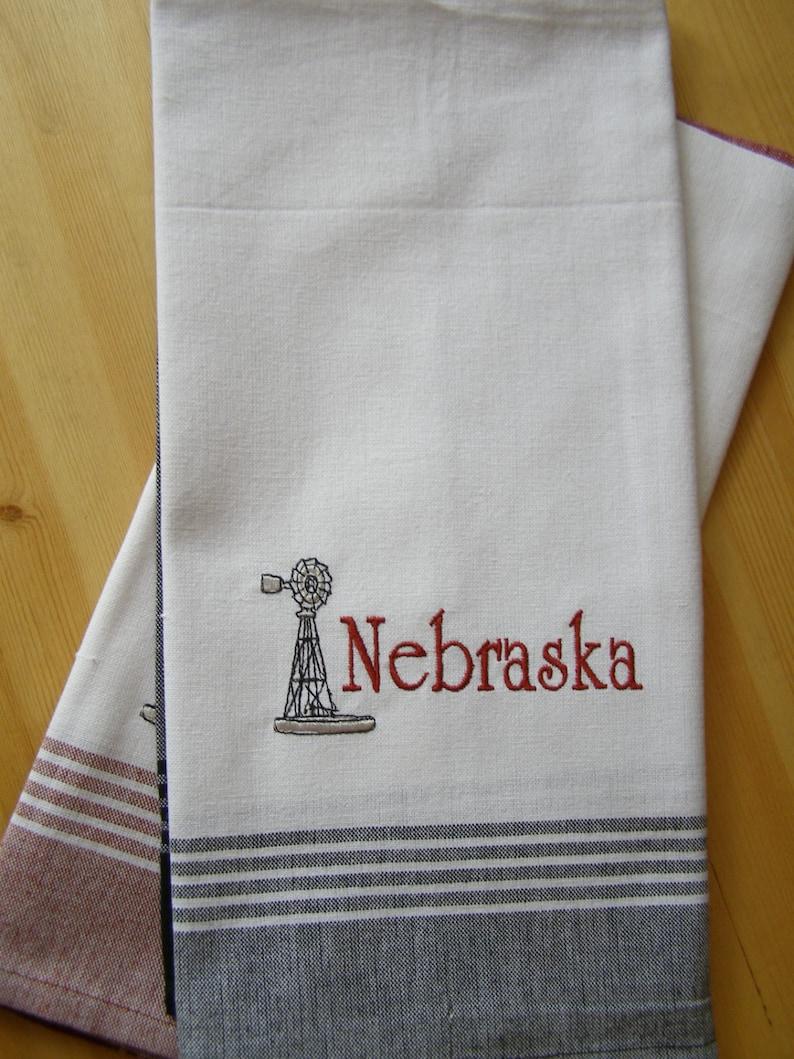 Nebraska Windmill Kitchen Towel image 0