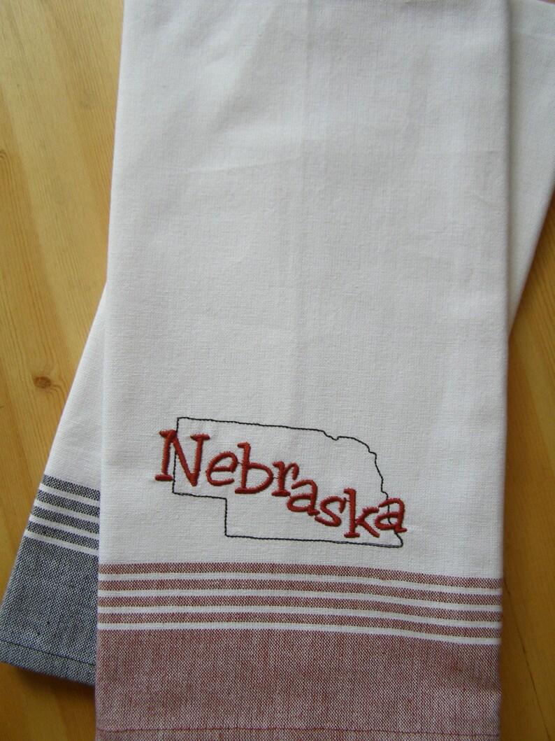 State of Nebraska Kitchen Towel image 0