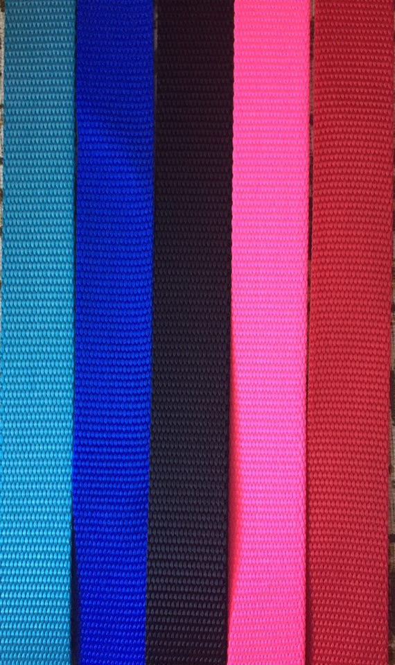 25mm wide Heavyweight Polypropylene Webbing NEON PINK 10 or 50 metres 1