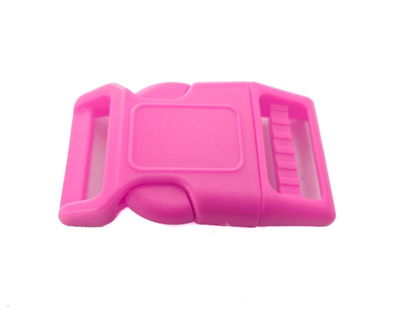 50-3//4 Inch Pink Contoured Side Release Plastic Buckles YKK