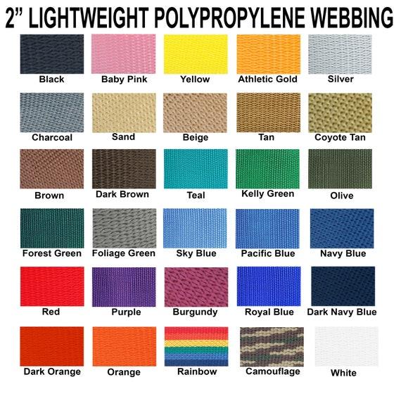"Webbing 1/"" Inch Yellow Polypropylene 5 Yards 15 Ft."